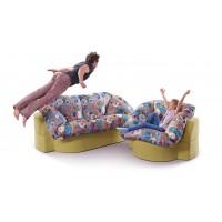 Комплект диван и кресло ИВАННА (ткань к-8)