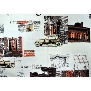 Рогожка Принт Стори (Print Story) ширина 180 см